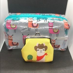 Handbags - New Adorable Llama 🦙 makeup bag with coin purse